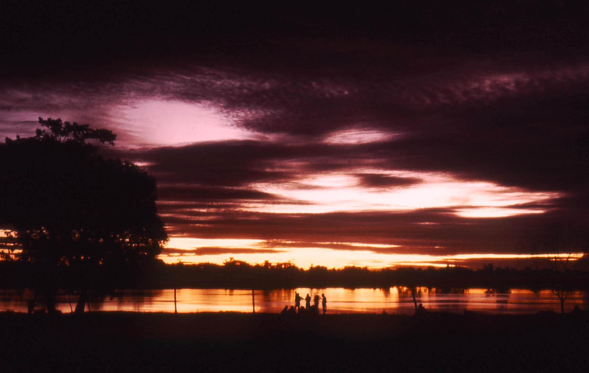Sunset on Sepik