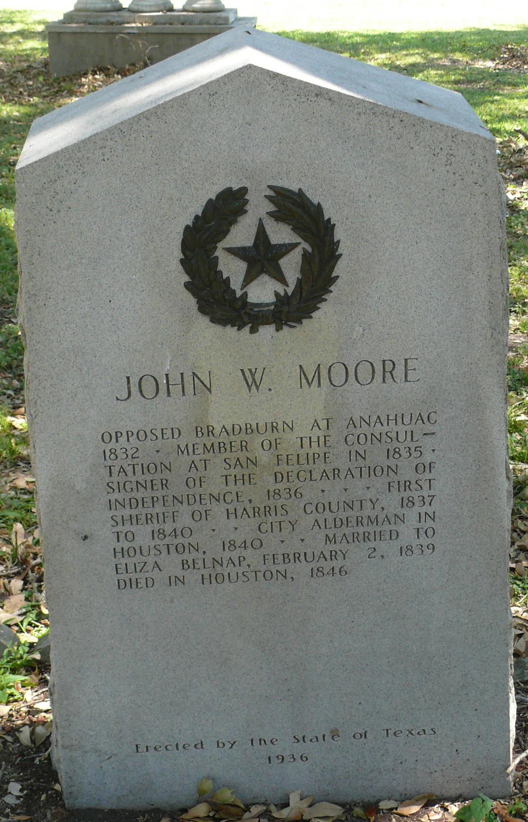 Founders', John W Moore