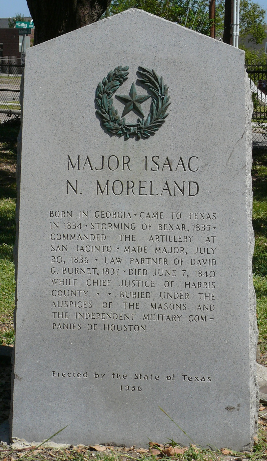 Founders', Isaac Moreland
