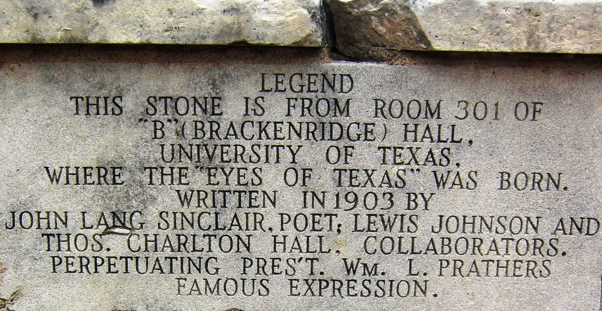 "Hollywood, ""Eyes of Texas"" Monument"