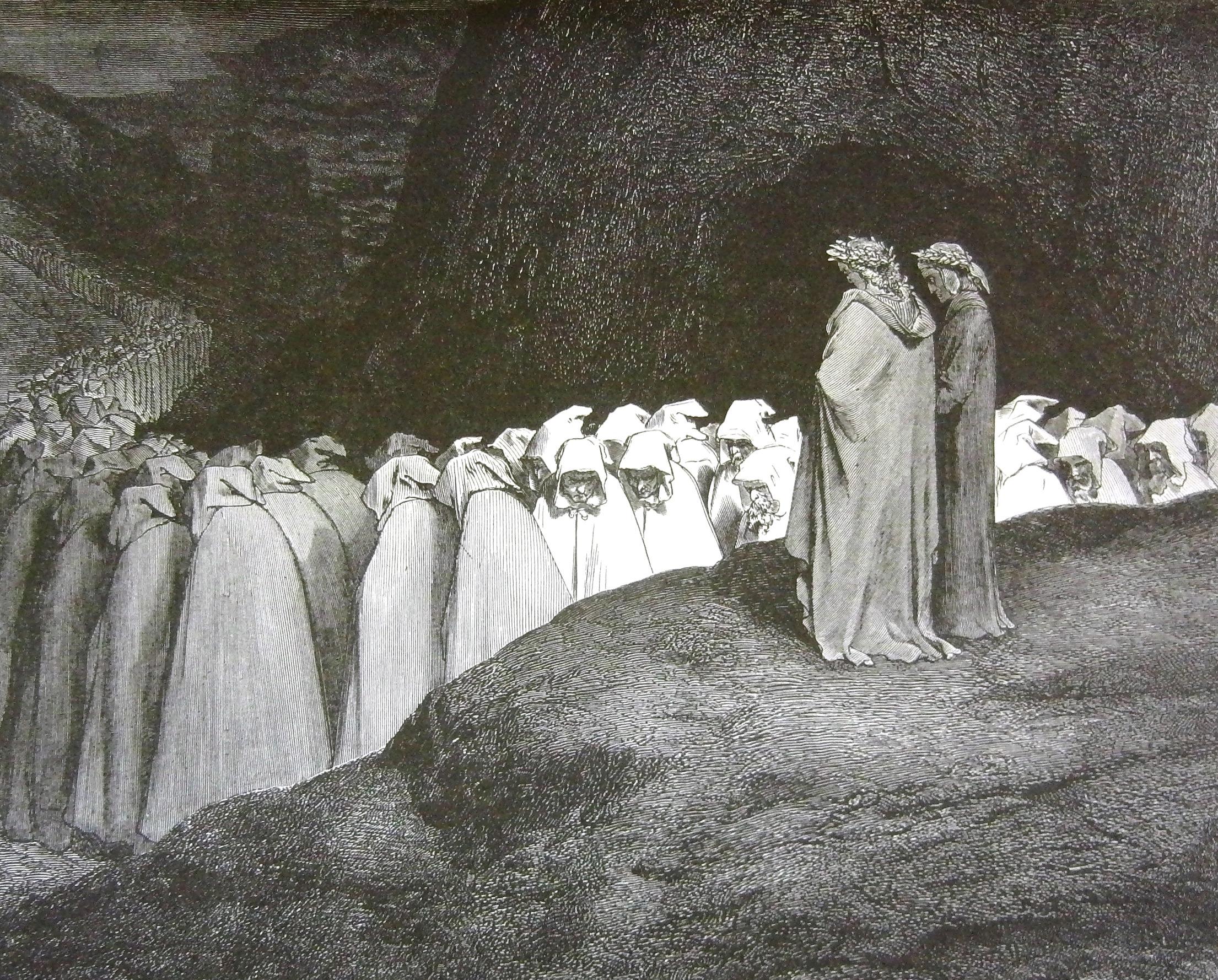 Dante & Virgil see Shades