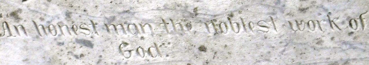 Gustaves Erichson's epitaph, Glenwood Cemetery