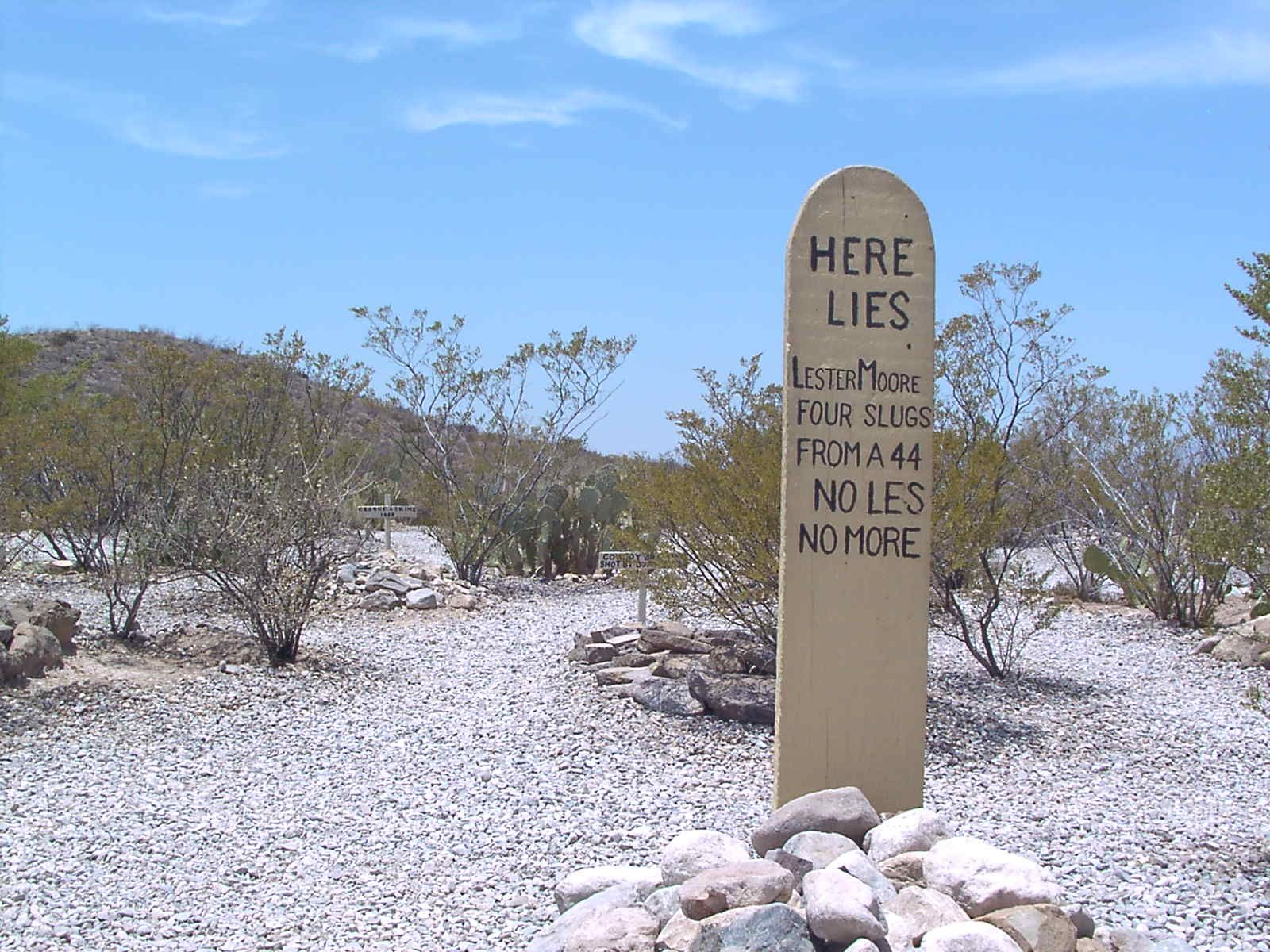 Cemetery Definitions -- Boot Hill (Tombstone Arizona)