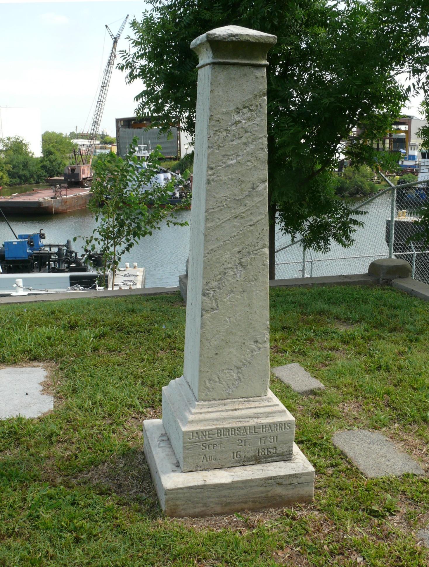 Glendale Cemetery -- Jane Birdsall Harris
