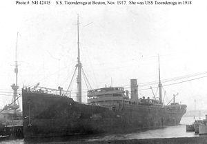 USS Ticonderoqa 1918