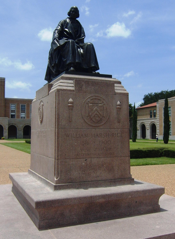 William Marsh Rice Statue and Grave Site