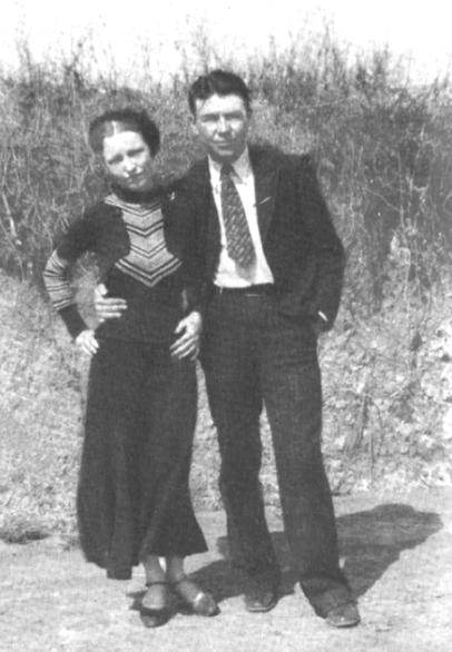 Jones with Bonnie Parker