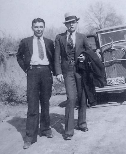 Jones with Clyde Barrow