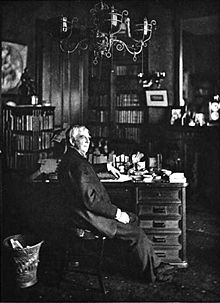 Oliver Wendell Holmes in his study
