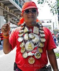 man with amulets