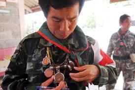 Soldier with amulets