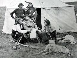 Indian Scouts with General Custer