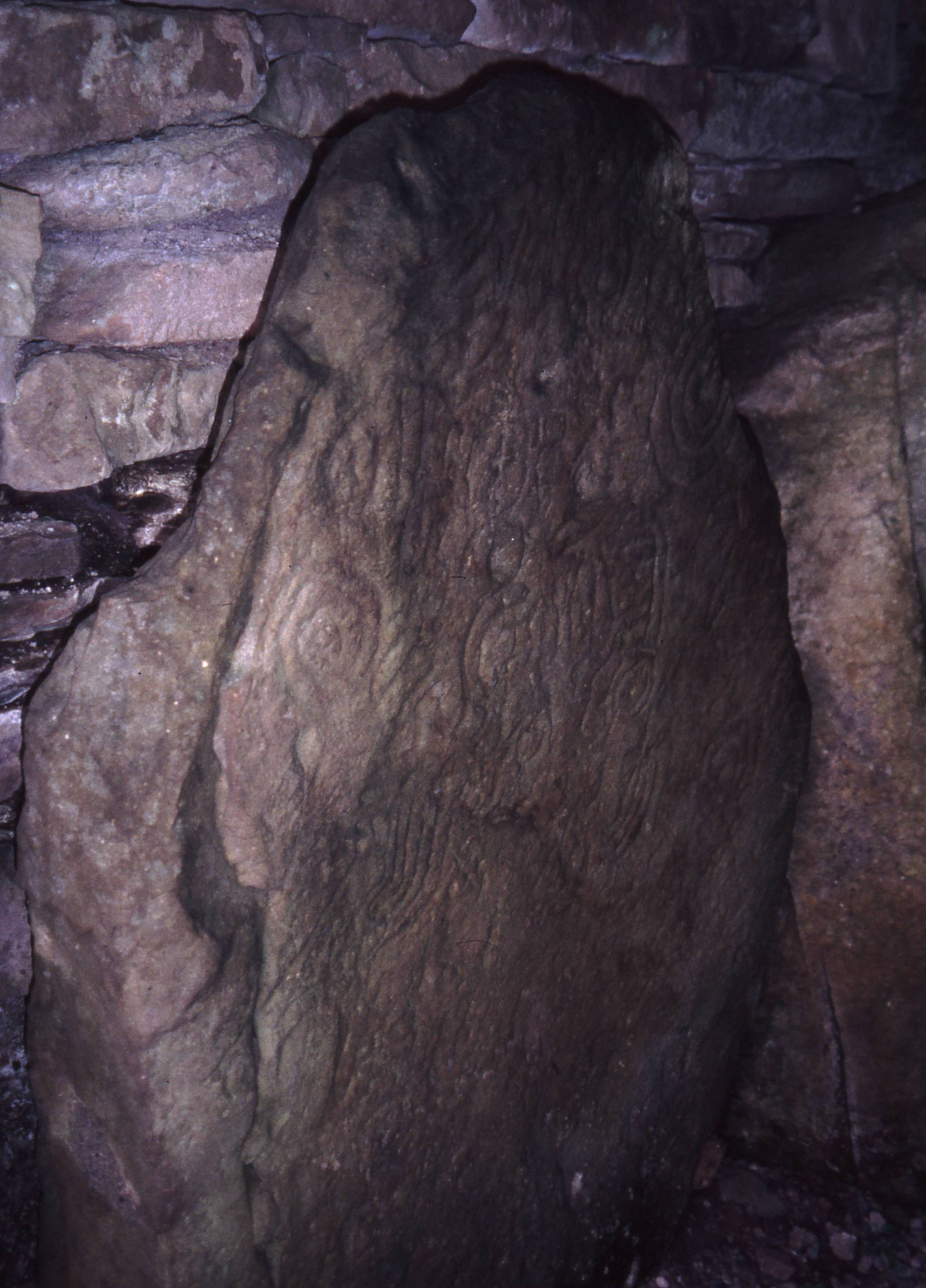 carved stone inside chamber